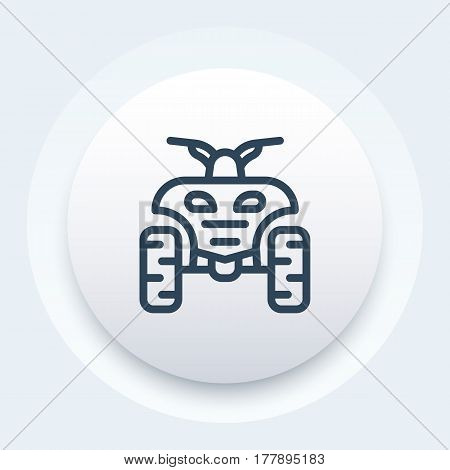 quad bike linear icon, symbol, vector illustration