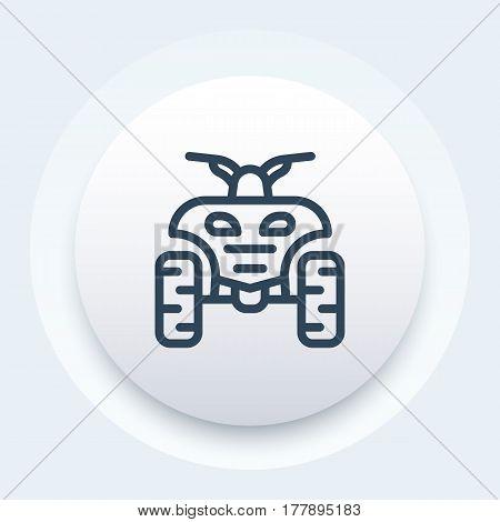 quad bike linear icon, symbol, vector illustration
