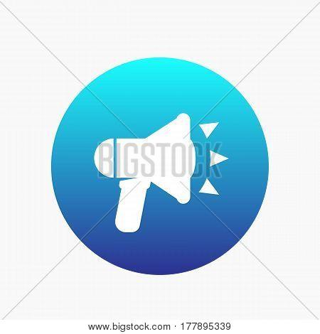 loudspeaker icon, megaphone, bullhorn vector sign, illustration