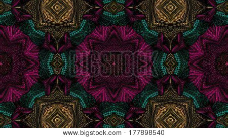 Kaleidoscopic multicolor pattern is computer graphics and it can be used in the design of textiles in the printing industry in a variety of design projects