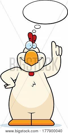 Cartoon Chicken Thinking