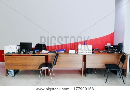 Interior of a reception