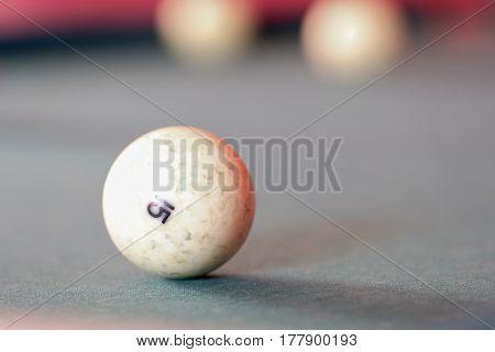 The image of billiard ball