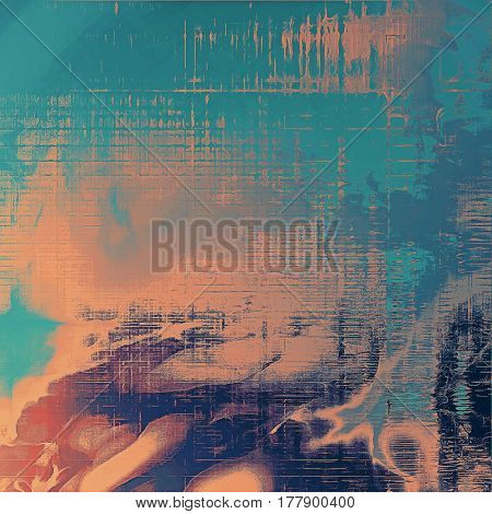 Colorful vintage texture. With different color patterns: yellow (beige); blue; gray; red (orange); purple (violet); cyan
