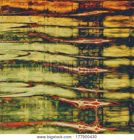 Art grunge texture for creative design or scrap-book. With vintage style decor and different color patterns: yellow (beige); brown; green; red (orange); black
