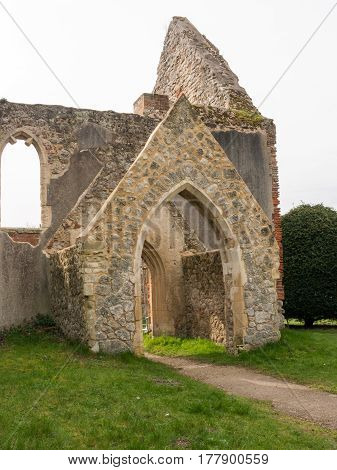 A burnt down and abandoned church in the lovely Essex village of Alresford