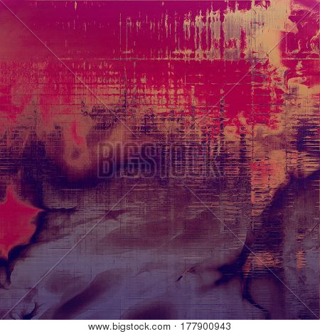 Rough textured backdrop, abstract vintage background with different color patterns: yellow (beige); brown; gray; red (orange); purple (violet); pink
