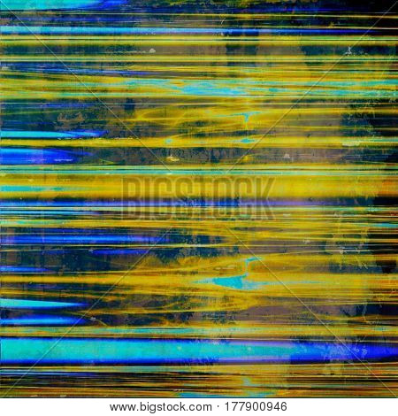Old texture as abstract grunge background. With different color patterns: yellow (beige); blue; purple (violet); cyan