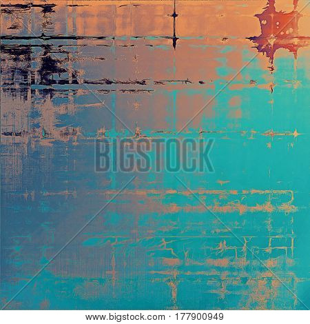 Creative elegant design used as retro background for your art project. With grunge texture and different color patterns: yellow (beige); brown; blue; gray; red (orange); cyan