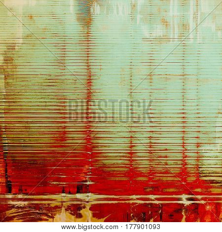 Stylish grunge texture, old damaged background. With different color patterns: yellow (beige); gray; red (orange); cyan