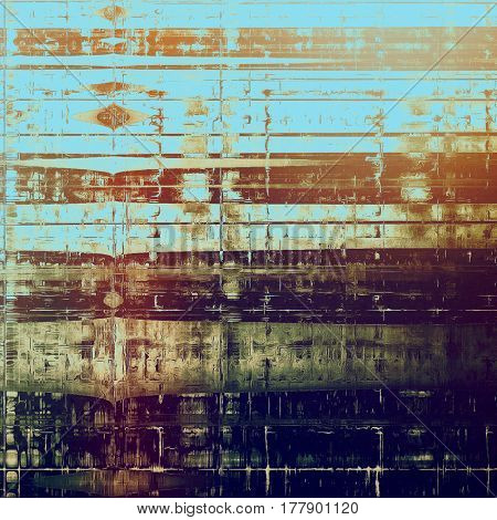 Tinted vintage texture, aged decorative grunge background with traditional antique elements and different color patterns: yellow (beige); brown; blue; red (orange); purple (violet); cyan