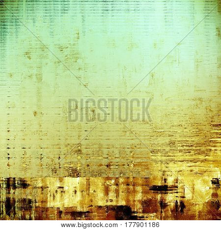 Traditional grunge background, scratched texture with vintage style design and different color patterns: yellow (beige); brown; green; cyan