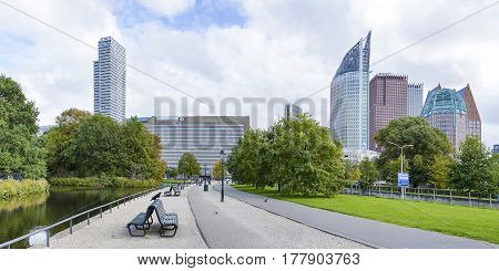 Panoramic view at Den Haag city center Netherlands Europe