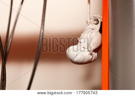 Hanging boxing gloves Toy souvenir on tube