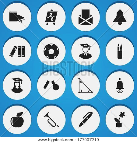 Set Of 16 Editable Science Icons. Includes Symbols Such As Propeller, Phial, Bookmark And More. Can Be Used For Web, Mobile, UI And Infographic Design.