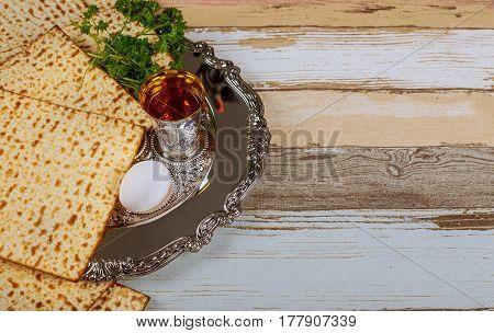 Passover Matzoh Jewish Traditional Sedder Plate