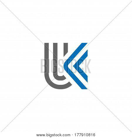 Letter UK strips logo, strong elegant classy concept. creative letter UK template logo