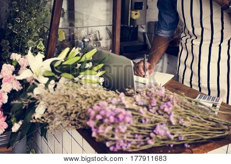 Flower Blooming Shop Retail Store Selling