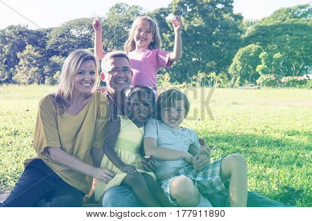 Family Togetherness Relaxation Outdoors Park