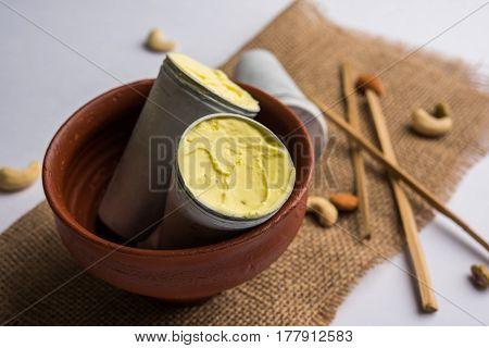 rajwari or rajwadi sweet kesar badam pista kulfi or ice cream candy