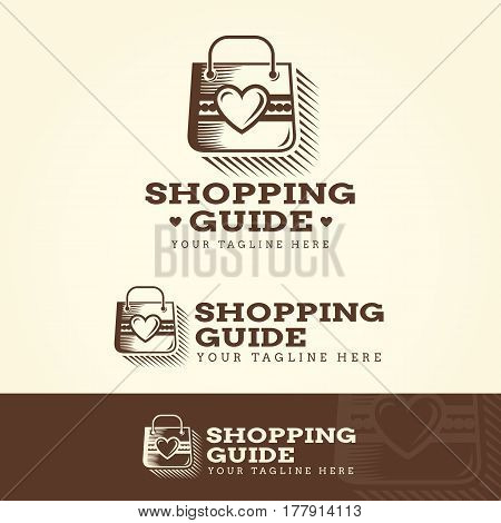 Shopping Guide Logotype and Tagline. Vector template.