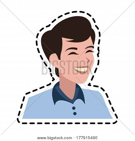 androgynous man icon image vector illustration design