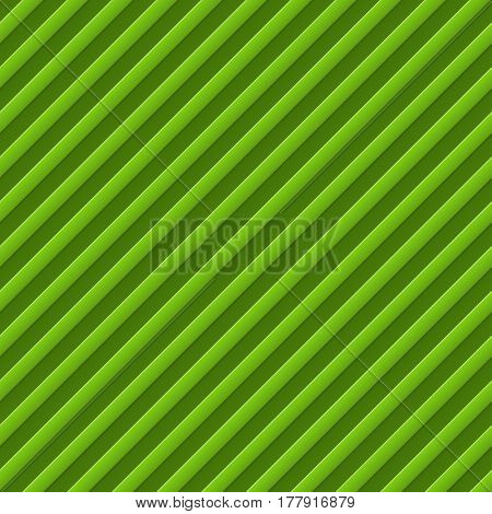Abstract diagonal bumped stripes green background. Raster copy.
