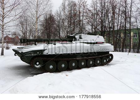 memorial in the form of a self-propelled artillery battle in g.Semenov