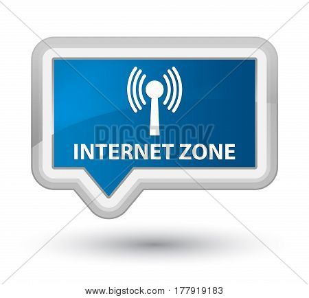 Internet Zone (wlan Network) Prime Blue Banner Button
