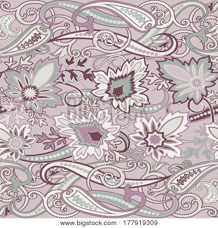 Seamless with oriental motif. Multicolor patchwork background. Set of pattern with filigree ornaments. Vector illustration.