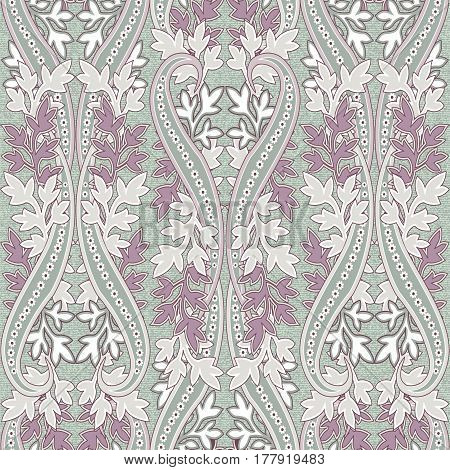 Seamless with oriental motif. Blue patchwork background. Set of pattern with filigree ornaments. Vector illustration.