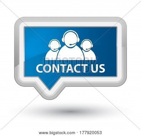 Contact Us (customer Care Team Icon) Prime Blue Banner Button