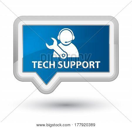 Tech Support Prime Blue Banner Button