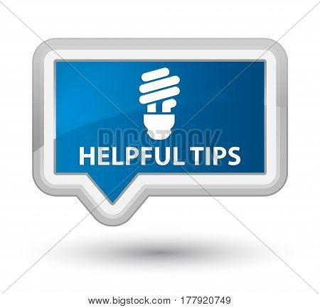 Helpful Tips (bulb Icon) Prime Blue Banner Button