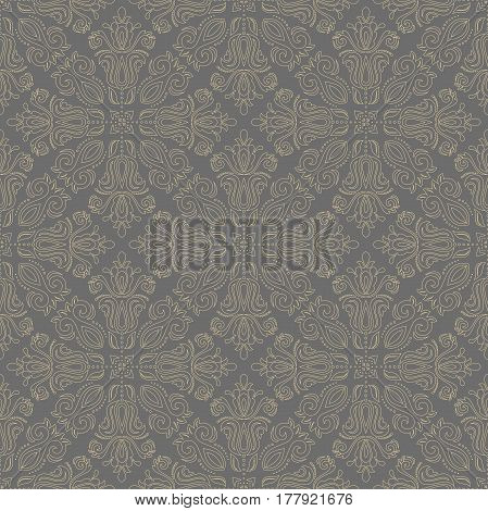 Classic seamless vector light golden pattern. Traditional orient ornament. Classic vintage background