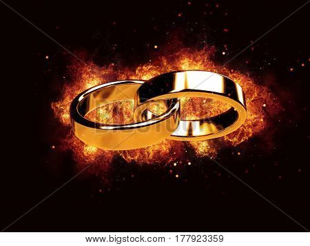 Marriage marriage marry ring rings wedding ring fire flames burn hot burning