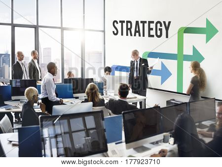 Business Team Meeting Presentation Discussion Strategy Success