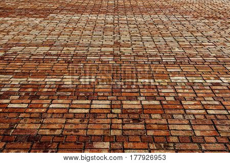 Brick wall, brick texture, brick background. Brown brick background.