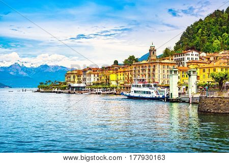 Bellagio town in Como lake district. Italian traditional lake village. Italy Europe.
