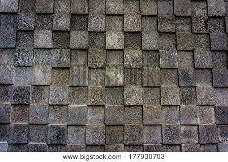 natural stone with four square pattern and grey colour java