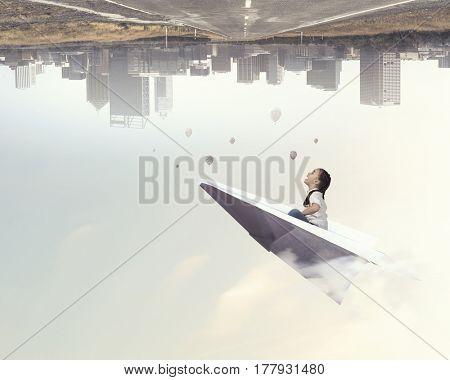 I dream to fly away . Mixed media