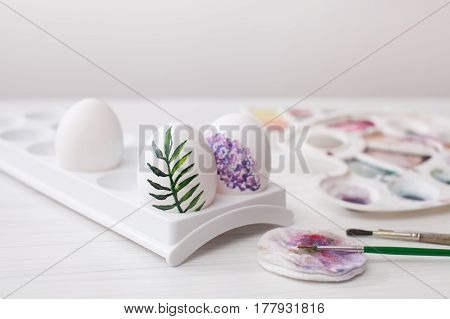 Coloring Eggs Colors For Easter, Botanical Illustration