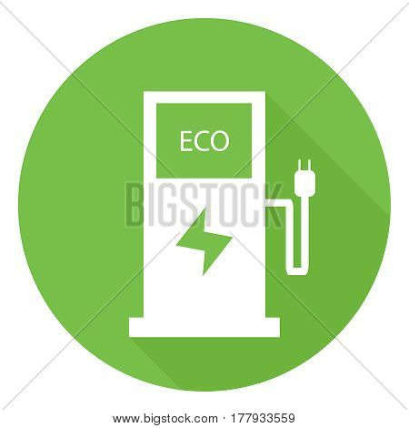 Icon eco refueling. Flat design vector illustration vector.