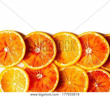 orange pattern slices on a white background