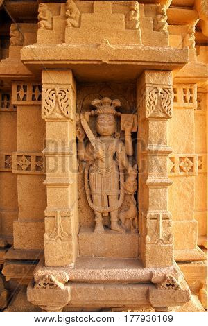 JAISALMER, INDIA - CIRCA NOVEMBER 2012: Goddes Kali sculpture