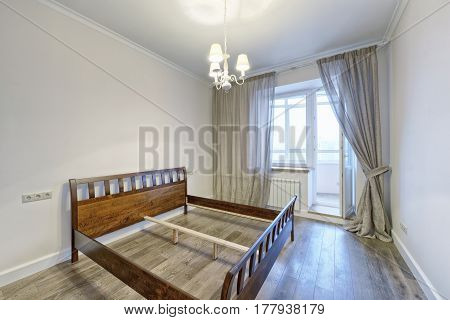 Russia Moscow - Modern interior design bedroom town real estate
