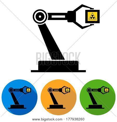 Mechanical hand. Flat design vector illustration vector.