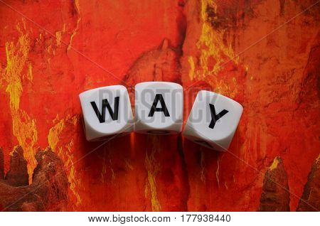 word way on a  abstract colorful background