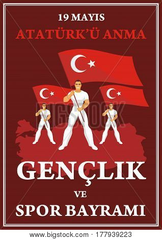 Sports Day Of Turkey Poster.eps