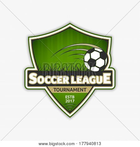 Soccer Logo Template. Football Logotype. Vector Emblem Sport Design.
